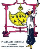 Advertisment for L. Sarreau Pharmacie Normale, Rue Catinat, Saigon, from the French colonial era in Indochina
